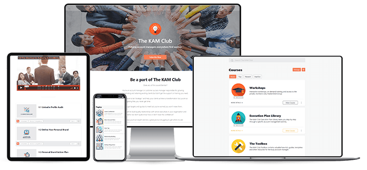 The KAM Club - a private learning community for key account managers